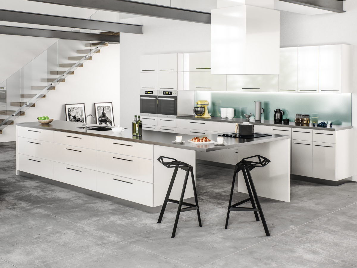 Milano High Gloss White Perfection Kitchens